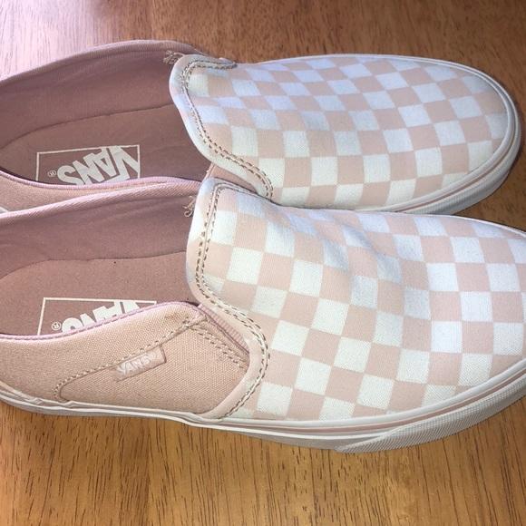 Vans Womens Blush Checkerboard Sneaker